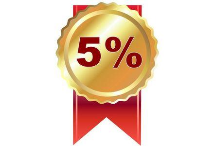 Sleva 5% na všechny produkty